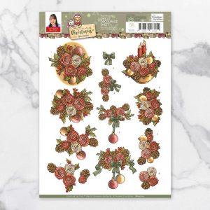 diecut-decoupage-rose-bouquet
