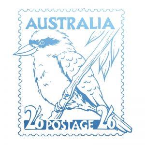 sunburnt-country-stamp-kookaburra-postage