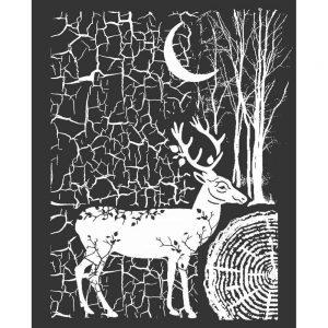 KSTD044_Stamperia_Cosmos_Deer_Stencil