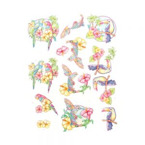 SB10364_3D_Diecut_Sheet_Happy_Tropics_Exotic_Birds