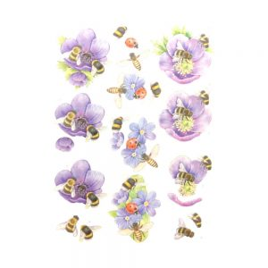 SB10365_3D_Diecut_Sheet_Buzzing_Bees_Purple_Flowers