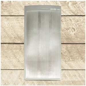Sticker - small - large- lines-silver