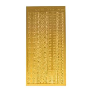 Sticckers - lacy-borders-gold