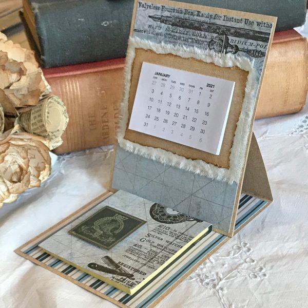 2021 Calendar Easel Notepad Gentlemans Emporium 01
