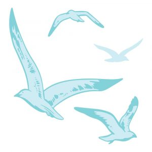 CO728333 Stamp and Die Set _ Flying Seagulls