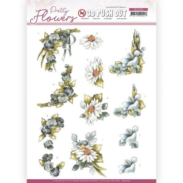 SB10500_3D_Pretty_Flowers_Blue