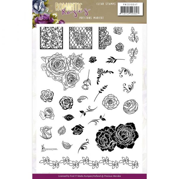 PMCS10047_Romantic Roses_Clear Stamps