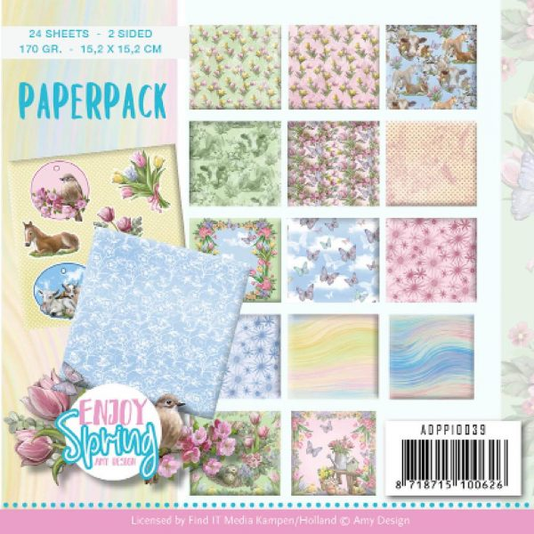 ADPP10039_Enjoy Spring Paper Pack 6x6