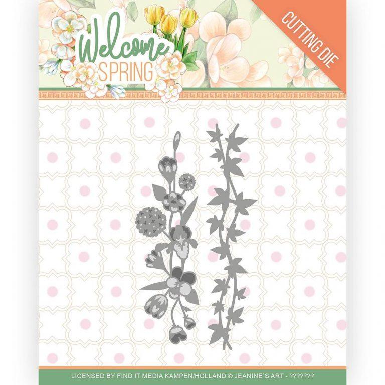 JAD10114_Welcome Spring Flowers and Leaf Borders Die