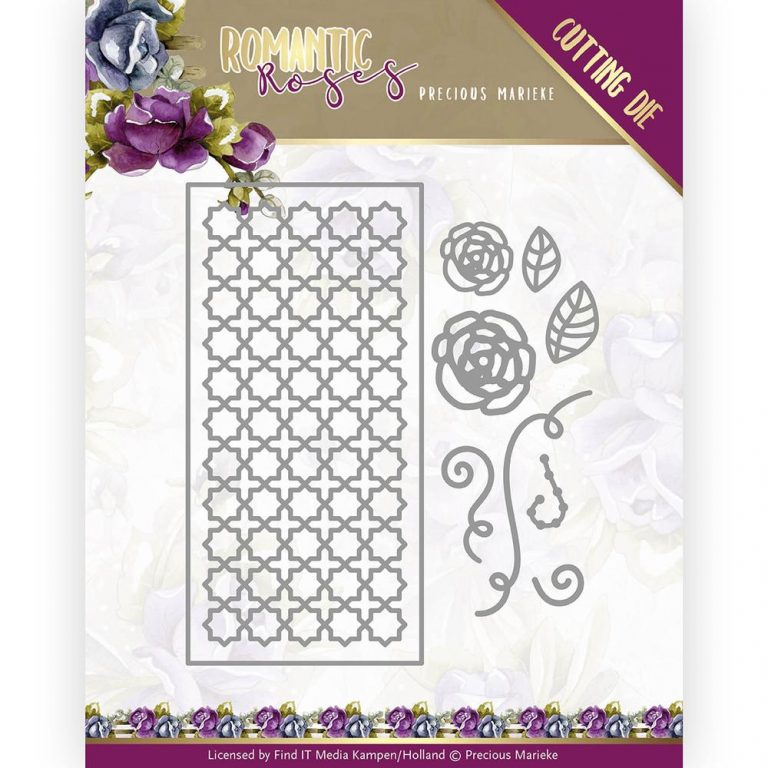 PM10199_Romantic Roses Fence Rectangle Die