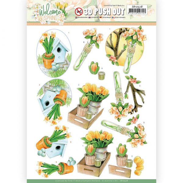 SB10528_Welcome Spring 3D Orange Tulips