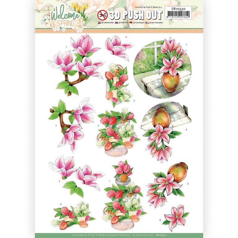 SB10530_Welcome Spring 3D Pink Magnolia