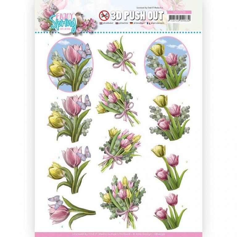 SB10539_Enjoy Spring 3D Bouquet of Tulips
